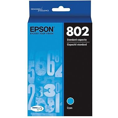 Epson 802 DURABrite Ultra Ink Cartridge, Standard-capacity, Cyan Ink Cartridge (T802220)
