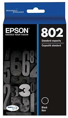 Epson 802 DURABrite Ultra Ink Cartridge, Standard-capacity, Black Ink Cartridge (T802120)