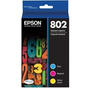 Epson 802 DURABrite Ultra Ink Cartridge, Standard-capacity, Color Multipack (T802520)