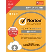 Norton Security Premium 10 Devices, 13-month for Windows/Mac (1 User) [Download]
