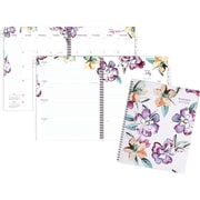 "2017-2018 AT-A-GLANCE® 8 1/2"" x 11"" June Academic Weekly/Monthly Planner,12 Months, Floral (1012-905A-18)"