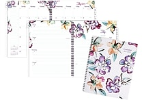 2017-2018 AT-A-GLANCE® 8 1/2' x 11' June Academic Weekly/Monthly Planner,12 Months, Floral (1012-905A-18)