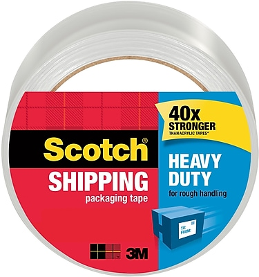 Scotch Heavy Duty Shipping Packing Tape, 1.88
