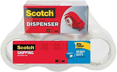 Scotch® Heavy-Duty Shipping Packaging Tape with Dispenser, 1.88