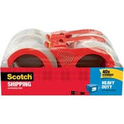 "Scotch® Heavy Duty Shipping Packing Tape, 1.88"" x 54.6 yds, Clear, 4/Pack"