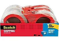 Scotch Heavy Duty Shipping Packing Tape, 1.88' x 54.6 yds, Clear, 4/Pack