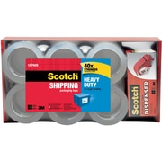 "Scotch® Heavy-Duty Packing Tape, 1.88"" x 54.6 yds, Clear, 12/Pack"