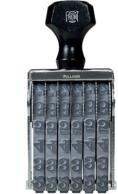 Pullman Traditional Number Stamp, 6 Band, 1/2 Inch (025513)