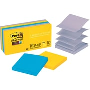 """Post-it® Super Sticky Pop-up Notes, 3"""" x 3"""", New York Collection, 10 Pads/Pack"""