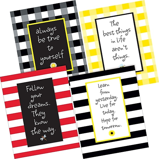 Barker Creek Be True to Yourself Art Print Set, 4 Pieces per Set (BC3101)