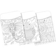 Barker Creek Color Me! Boho Peel & Stick Library Pockets, 30 Pieces Per Pack (BC1240)