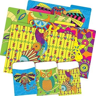 Barker Creek Bohemian Animals Folder & Pocket Set, 42 Pieces Per Set (BC3536)
