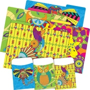 Barker Creek Bohemian Animals Folder & Pocket Set, 42 Pieces Per Set (BC3536)