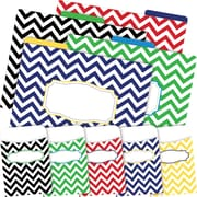 Barker Creek Chevron Nautical Folder & Pocket Set, 42 Pieces Per Set (BC3590)
