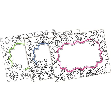 Barker Creek Color Me! In My Garden Name Badges & Self-Adhesive Labels, 45 Pieces Per Pack (BC1541)