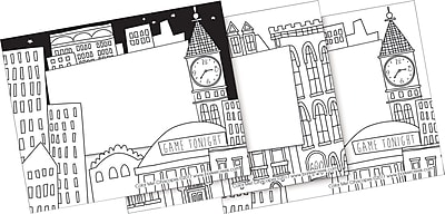 Barker Creek Color Me! Cityscapes Name Badges & Self-Adhesive Labels, 45 Pieces Per Pack (BC1542)