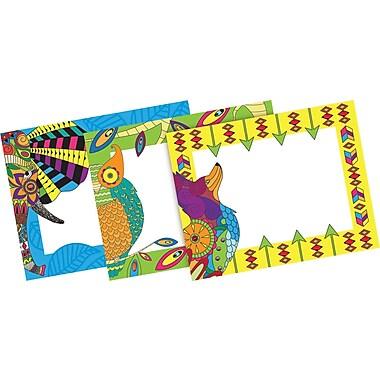 Barker Creek Bohemian Animals Name Badges & Self-Adhesive Labels, 45 Pieces Per Pack (BC1548)