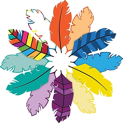 Barker Creek Bohemian Feathers Double-Sided Accents, 36 Pieces Per Pack (BC2215)
