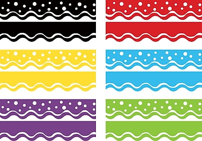 Barker Creek Happy Double-sided Scalloped Trim, 78 pieces per set (BC947)