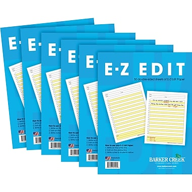 Barker Creek E-Z Edit™ Paper - 6-Pack, 300 double-sided, loose-leaf sheets of Paper (BC550206)