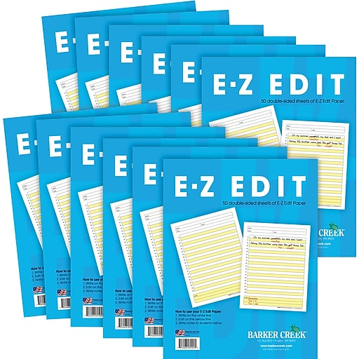 Barker Creek E-Z Edit™ Paper - 12-Pack, 600 double-sided, loose-leaf sheets of Paper (BC550212)