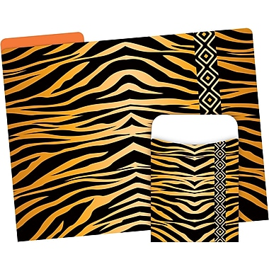 Barker Creek Tiger Folder & Pocket Set, 42 Pieces Per Set (BC3548)
