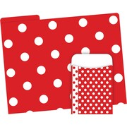 Barker Creek Red & White Dot Folder & Pocket Set, 42 Pieces Per Set (BC3600)