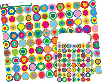 Barker Creek Disco Dots Folder & Pocket Set, 42 Pieces Per Set (BC3593)