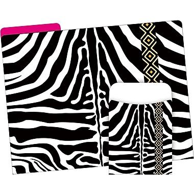 Barker Creek Zebra Folder & Pocket Set, 42 Pieces Per Set (BC3594)
