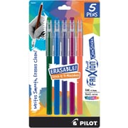 Pilot Frixion Color Sticks Erasable Gel Pens, 5Pk, Assorted Colors