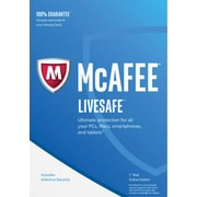 McAfee 2017 LiveSafe 1 Year for Windows/Mac (1 User) [Download]