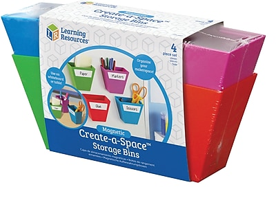 Magnetic Create-a-Space ™ Storage Bins