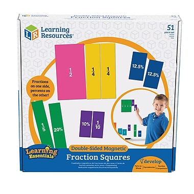 Double-Sided Magnetic Fraction Squares
