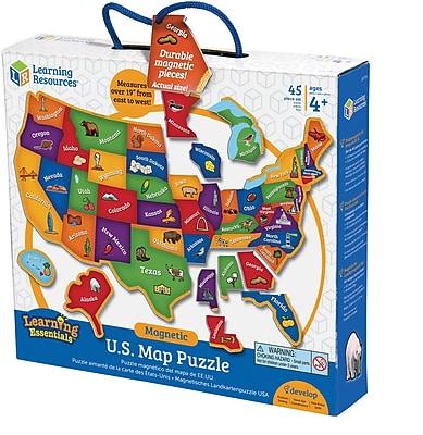 Magnetic U.S. Map Puzzle