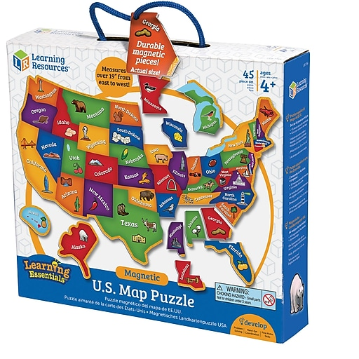 Magnetic U.S. Map Puzzle | Staples