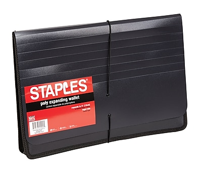 Staples Poly Expanding Wallets, Legal, 5