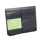 "Staples® Poly Expanding Wallets, Letter, 5"" Expansion, Black, Each"