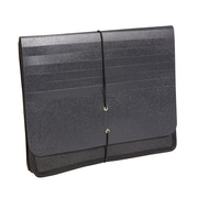 """Staples® Poly Expanding Wallets, Letter, 5"""" Expansion, Black, Each"""