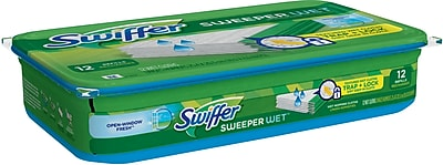 Swiffer® Sweeper® System Wet Premoistened Refill Cloths, 12/Pack