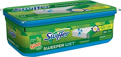 Swiffer Sweeper Wet Refills with Gain, 24/Pack