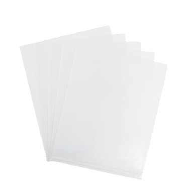 Staples Poly Pocket File, Letter, Transparent, 5/Pack (11094-CC)