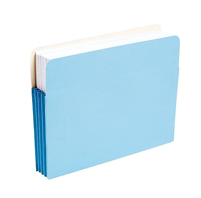 Staples Colored Expanding File Pockets, 3 1/2