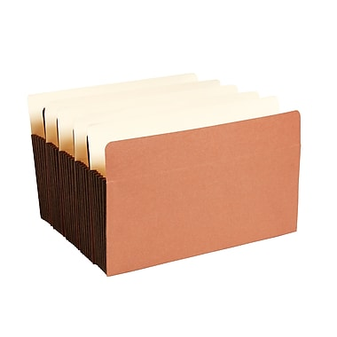 Staples® Expanding File Pocket with Tyvek® Reinforcement, 5.25