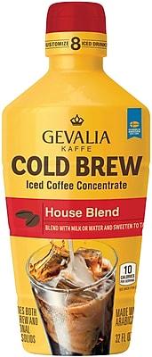 Gevalia Cold Brew Concentrate, House Blend, 32 Oz, 4/CT (GEN07118)