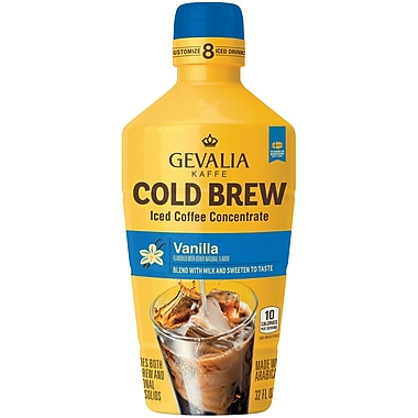 Gevalia Cold Brew Concentrate, Vanilla 32oz