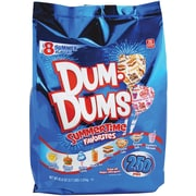Dum Dums Summertime Favorites Pops, 250 Ct.  Gusset bag. 42.8oz