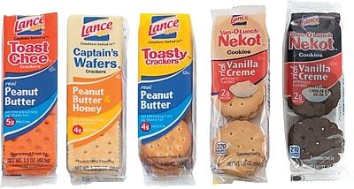 Lance Cookies & Crackers Variety Pack, 24 Packs/Box