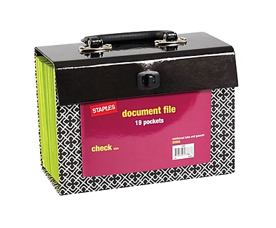 Staples 19 Pocket Expanding Document File, Check size, Print