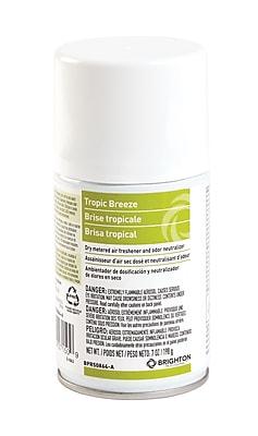 Brighton Professional™ Aerosol Refill Metered Air Freshener, Tropic Breeze, 7 Oz., 4/Ct (BPR50864-A)