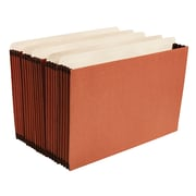 """Staples® 3-1/2"""" Heavy Duty Expanding File Drawer Pockets, Legal Size, Brown, 10/Box (FC1526ESB)"""